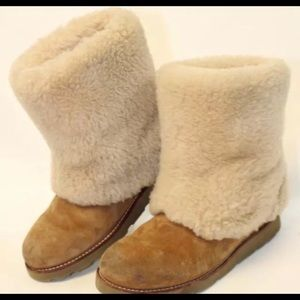 UGG boots and a sheepskin cleaning kit.